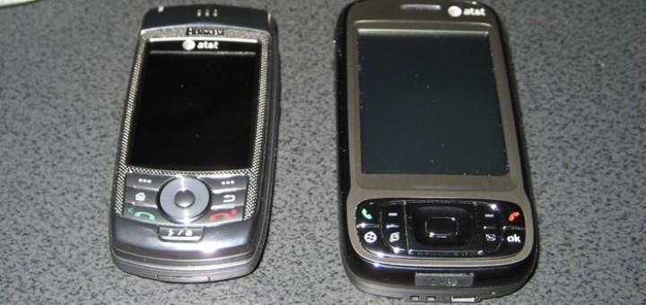AT&T Tilt and Pantech Duo