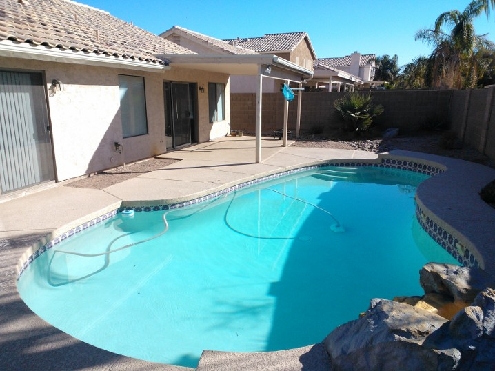 New house pool