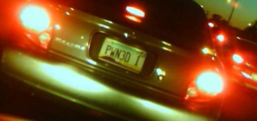 Pwn3d license plate