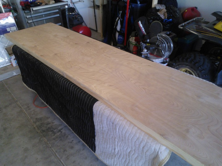 Beer pong table top unfinished