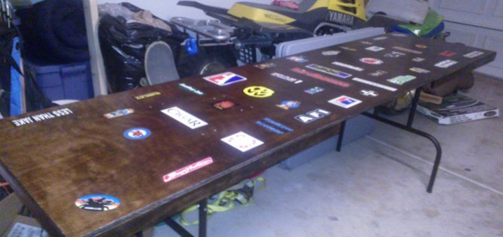 Beer pong table complete