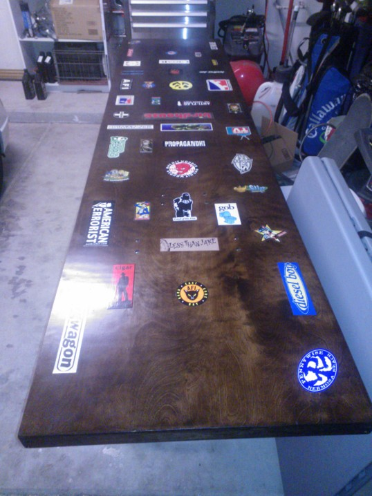 Beer pong table complete stickers